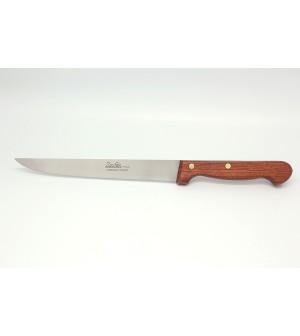 Couteau découper manche palissandre lame 19 cm lisse ou micro