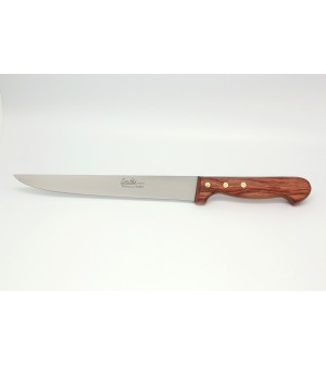 Couteau découper manche palissandre lame 21 cm lisse ou micro